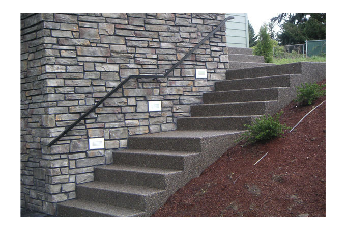 Concrete Stair Treads Creation Renovation Dun Escalier Paysager En Beton