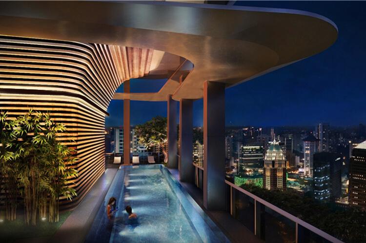 An artist's impression of New Futura's sky terrace pool