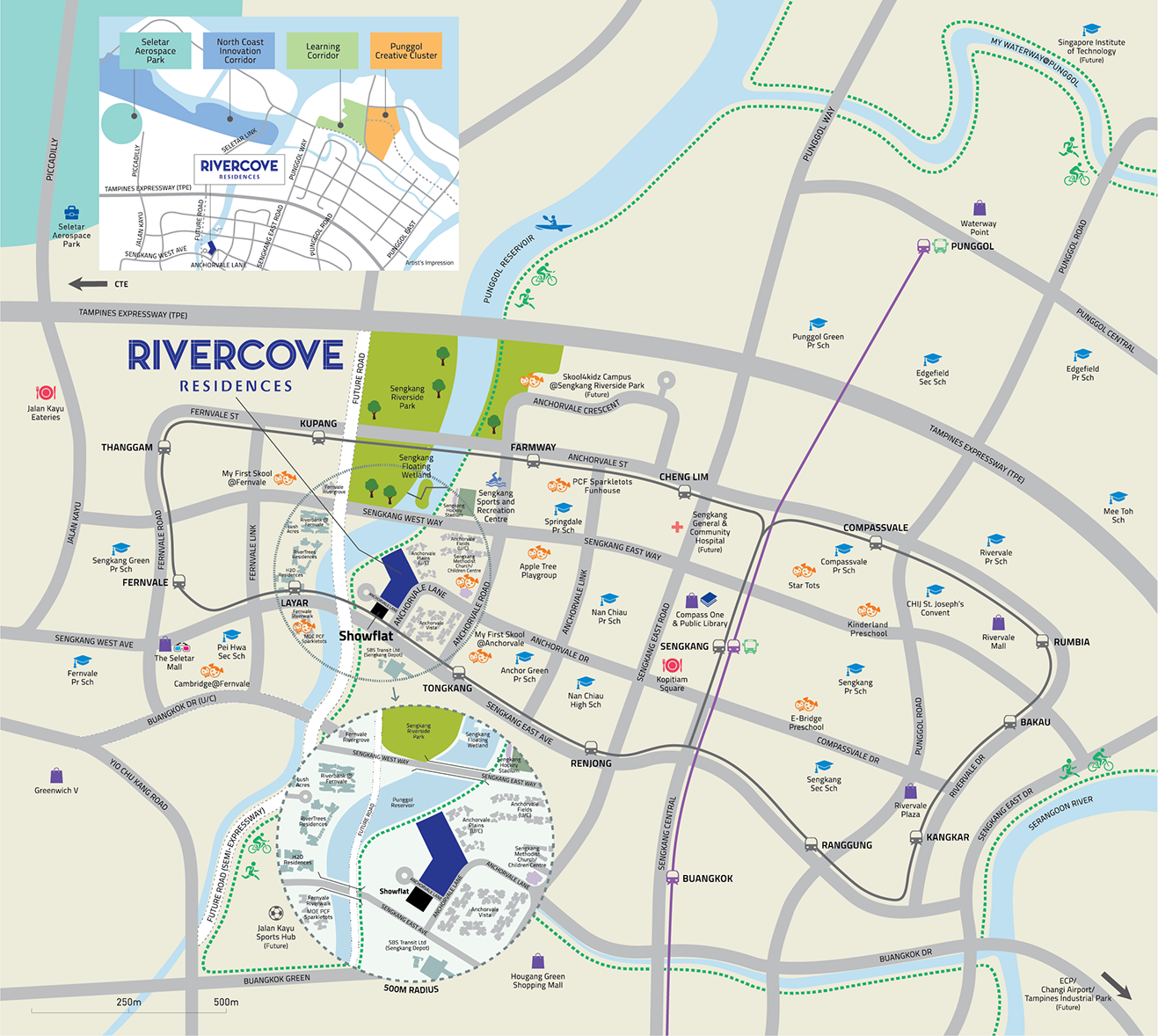 Rivercove Residences Land Parcel and Nearby Amenities
