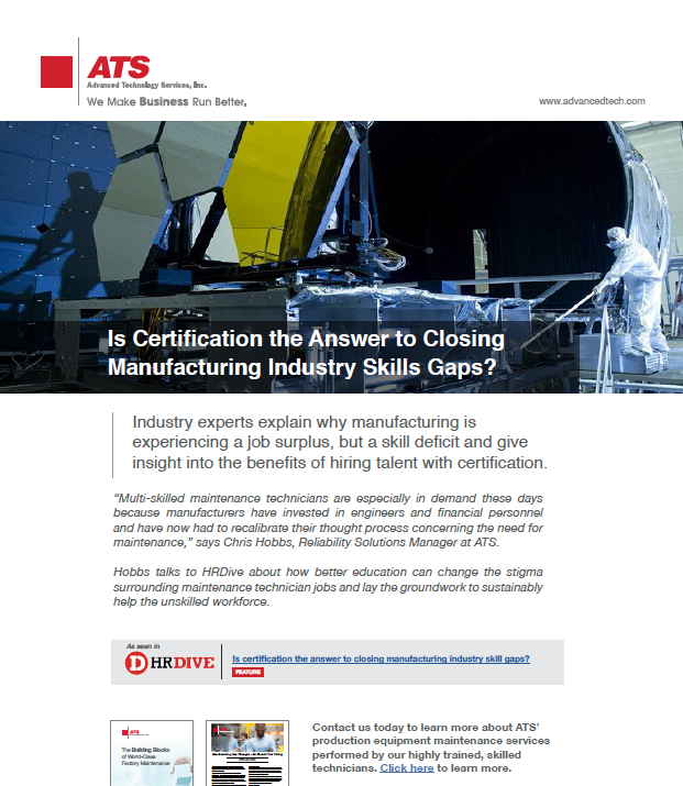 Is Certification the Answer to Closing Manufacturing Industry Skills Gaps?