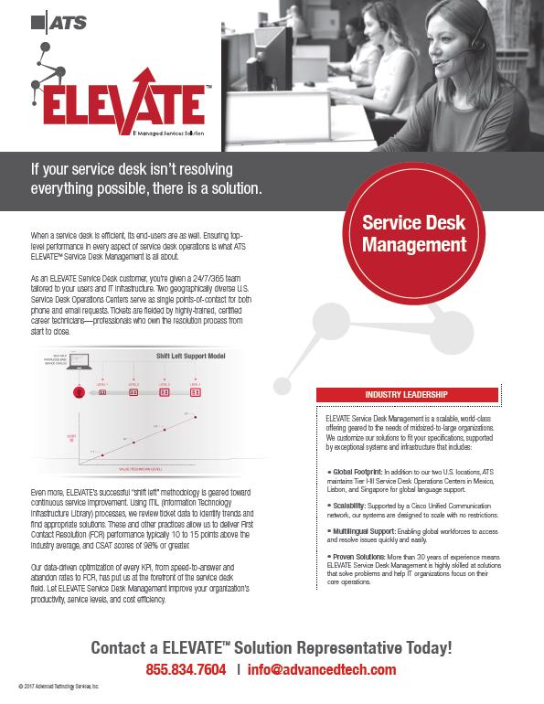 ATS ELEVATE Service Desk Management