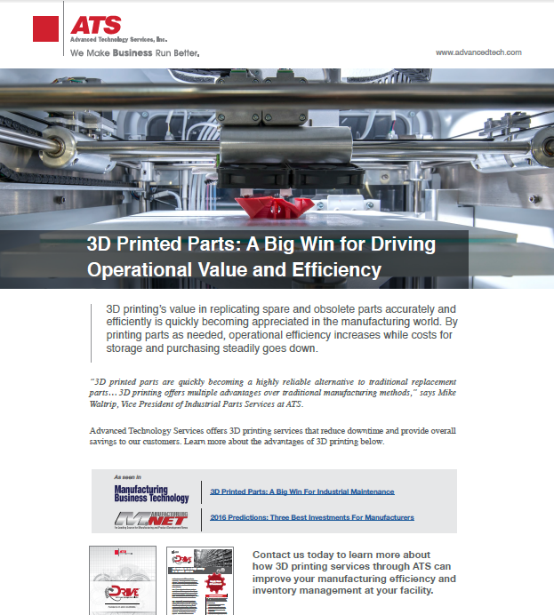 3D Printing: A Big Win for Driving Operational Value and Efficiency