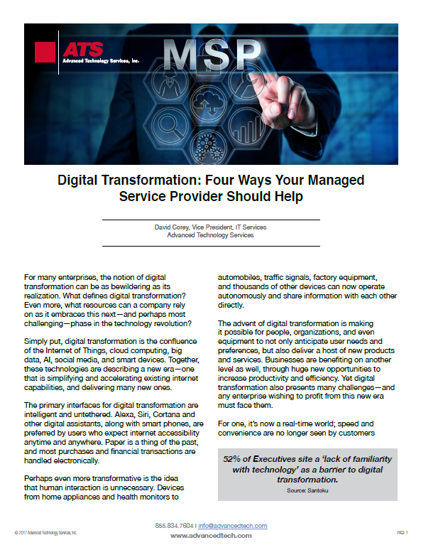 Digital Transformation: Four Ways Your Managed Service Provider Should Help
