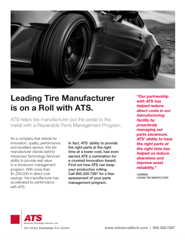 Leading Tire Manufacturer on a Roll with ATS
