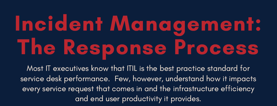 Incident Management: The Response Process Infographic