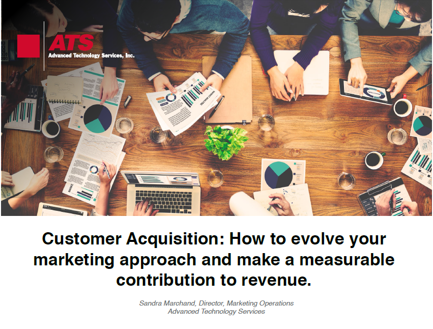 Customer Acquisition: How to evolve your marketing approach and make a measurable contribution to revenue