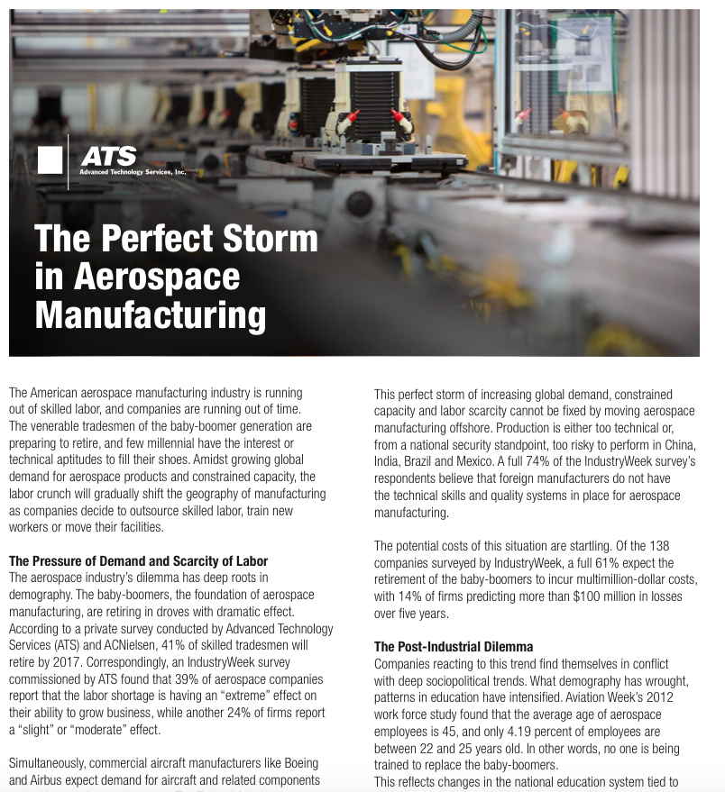 The Perfect Storm in Aerospace Manufacturing