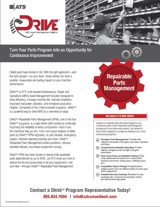ATS DRIVE Repairable Parts Management