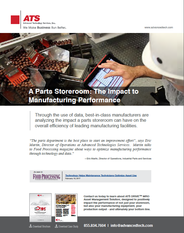 A Parts Storeroom: The Impact to Manufacturing Performance