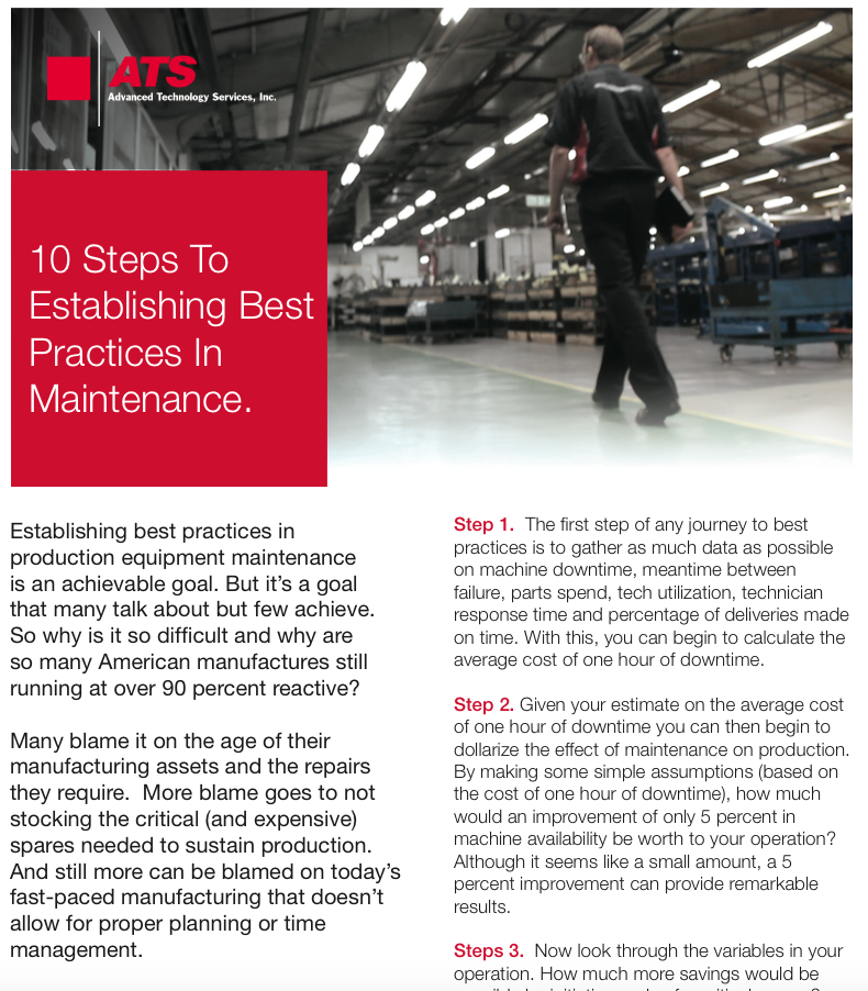 10 Steps To Establishing Best Practices in Manufacturing