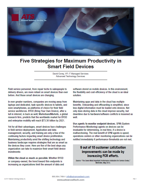 Five Strategies for Maximum Productivity in Smart Field Devices