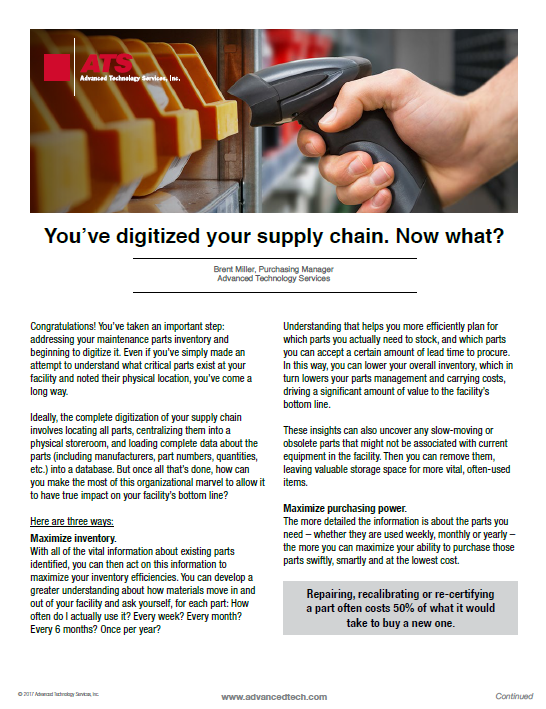 You've digitalized your supply chain. What's next?