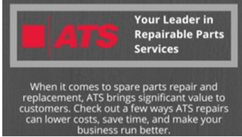 ATS: Your Leader in Repairable Parts Services Infographic