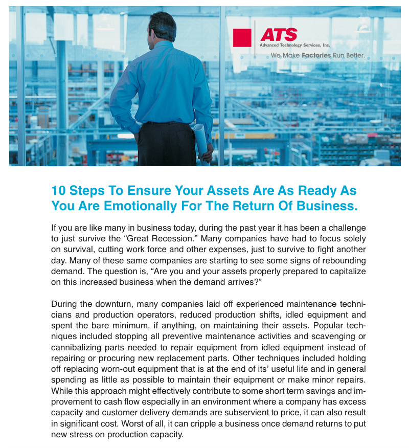 10 Steps to Ensure Your Assets are as Ready as You are Emotionally for the Return of Business