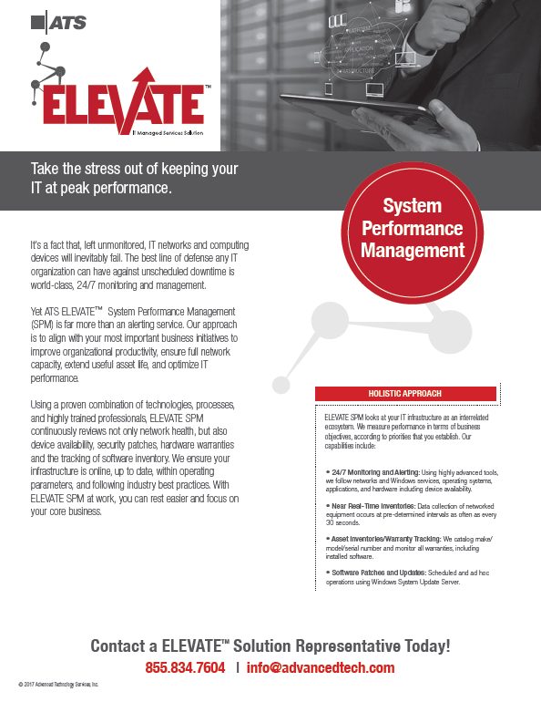 ATS ELEVATE System Performance Management