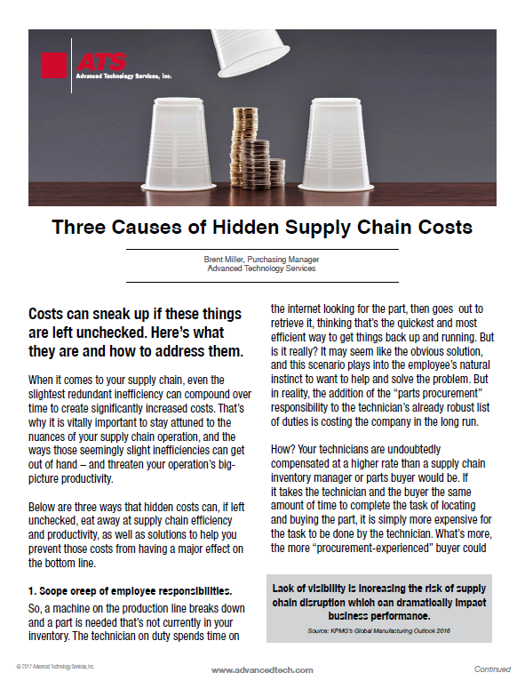 Three Causes of Hidden Supply Chain Costs