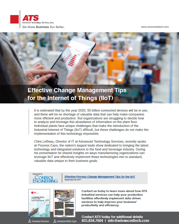 Effective Change Management Tips for the Industrial Internet of Things (IIoT)
