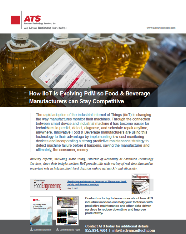 How IIoT is Evolving PdM so Food & Beverage Manufacturers can Stay Competitive