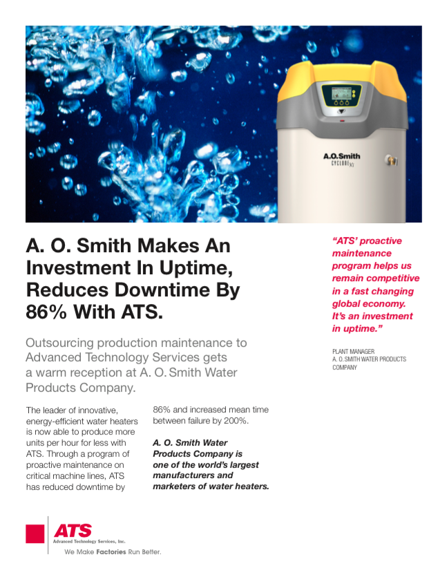 A.O. Smith Makes An Investment in Uptime, Reduces Downtime by 86% with ATS