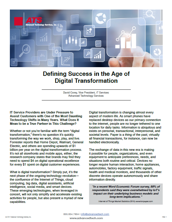 Defining Success in the Age of Digital Transformation