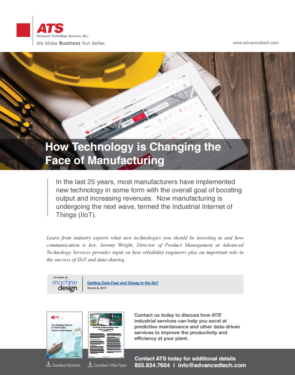 How Technology is Changing the Face of Manufacturing