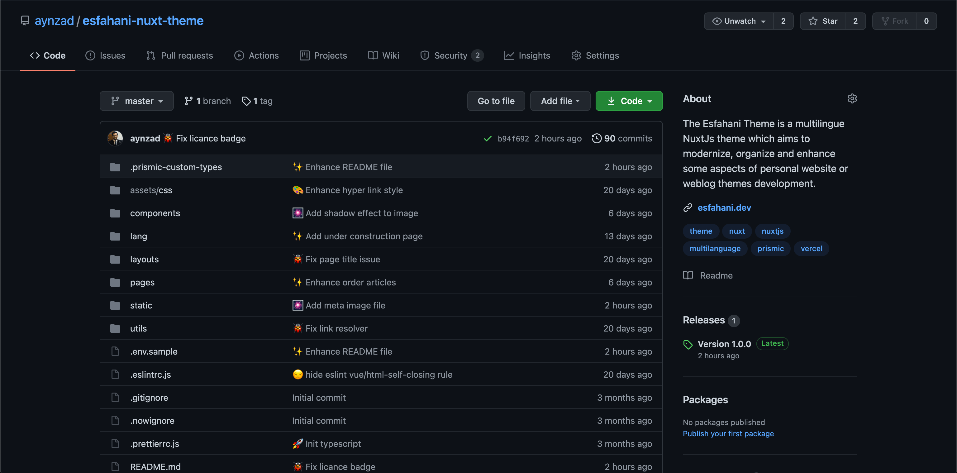 The github repo of this project