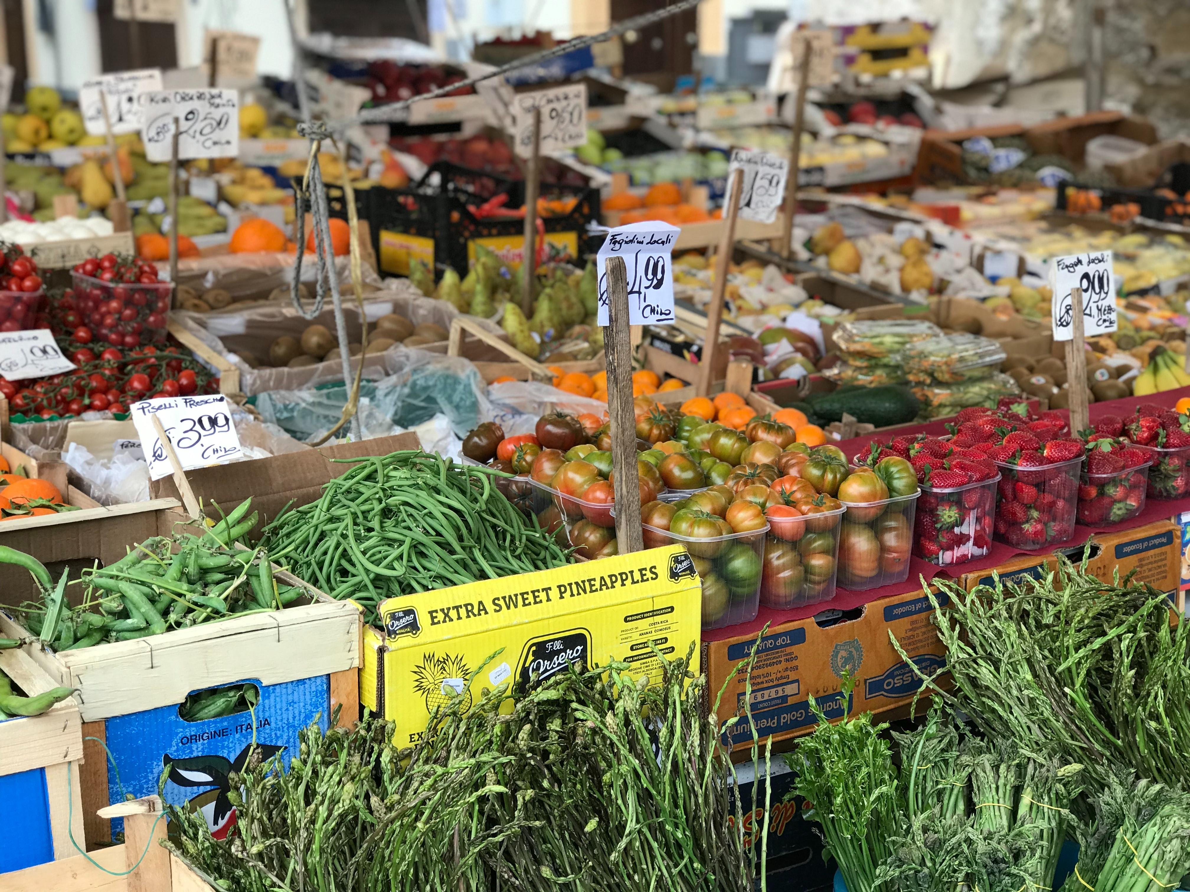 vegetables at food market