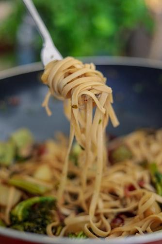 swirl of pasta