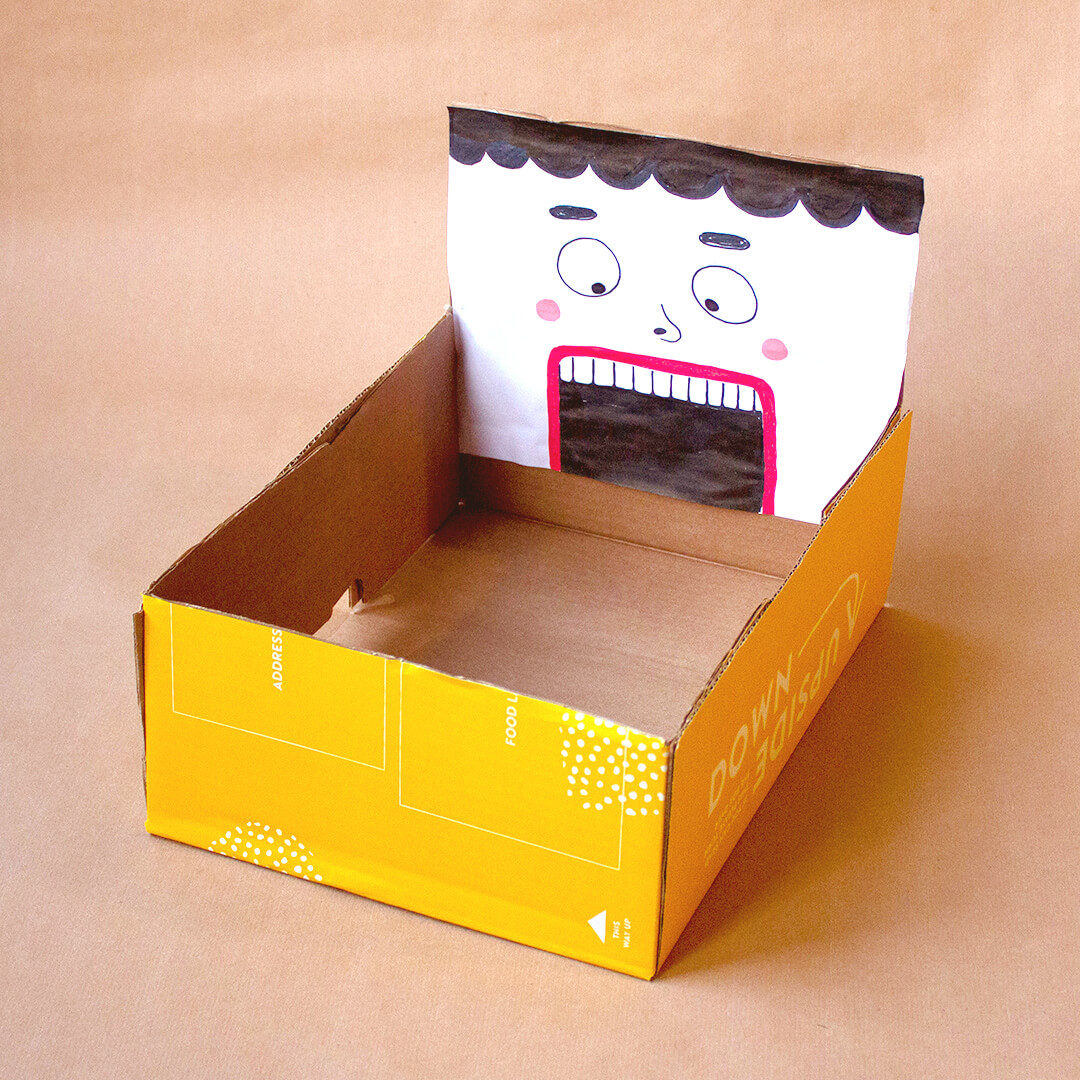 box with face