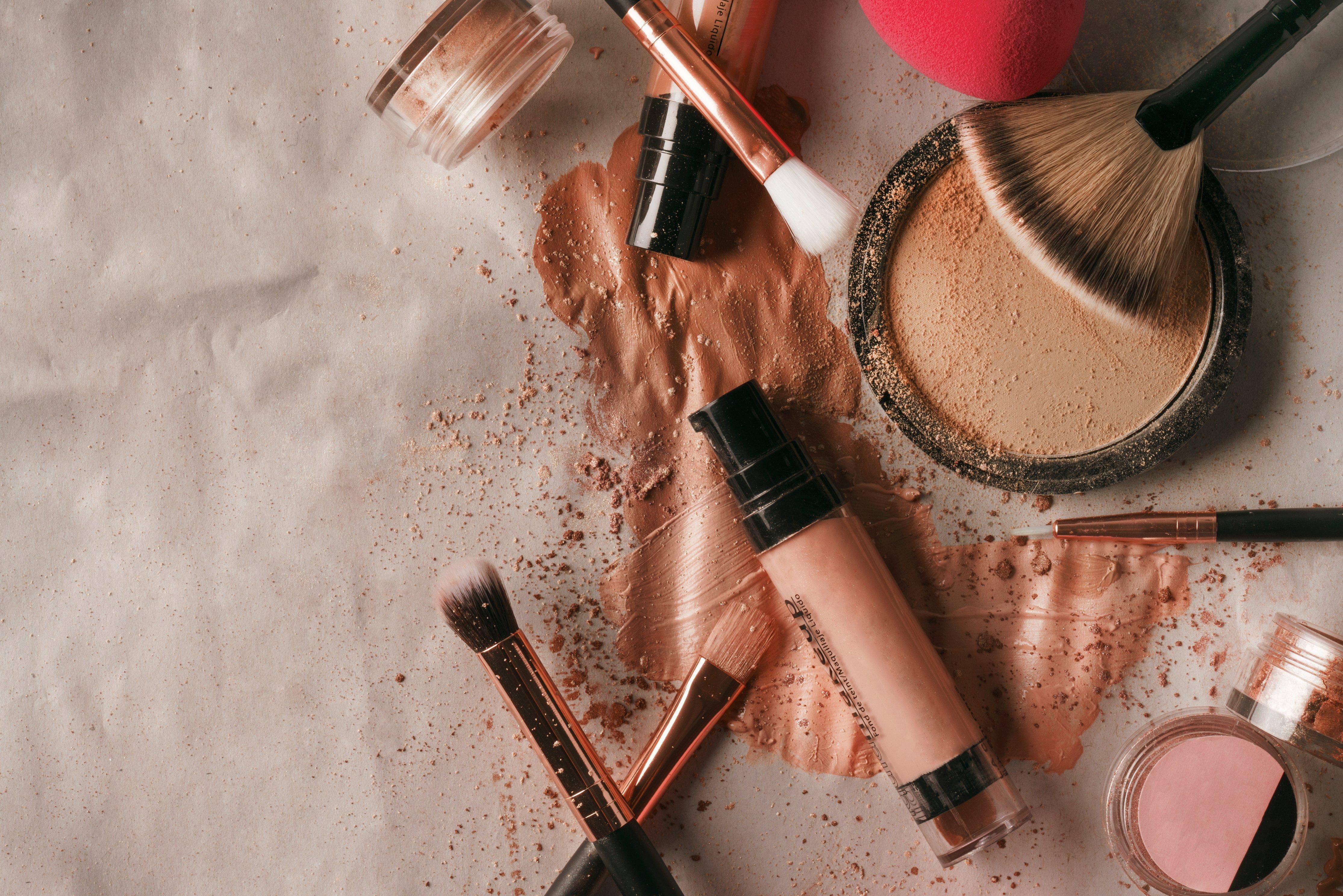 makeup flat-lay