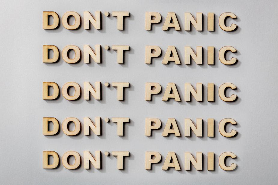 don't panic text image