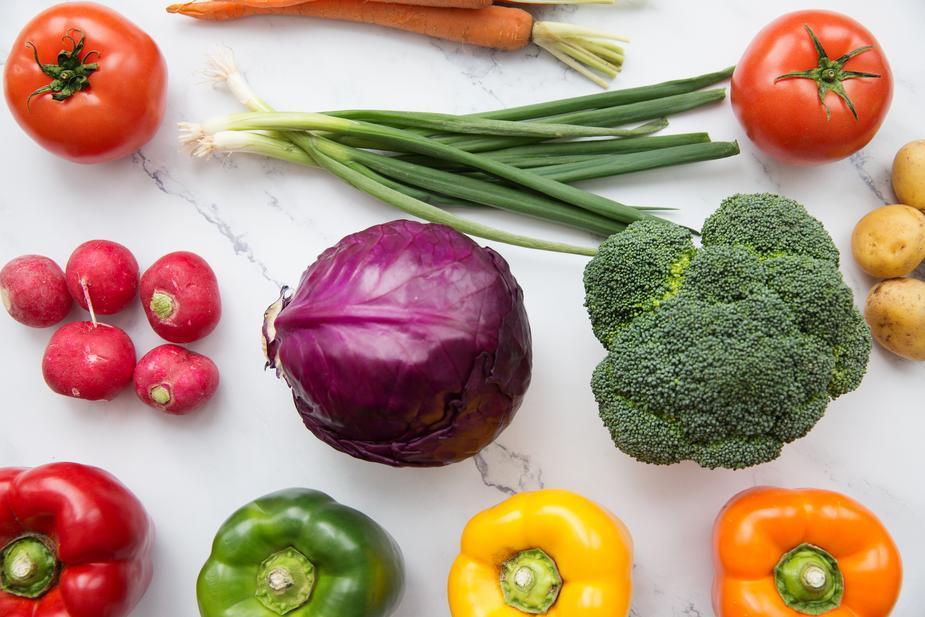 vegetable flat lay