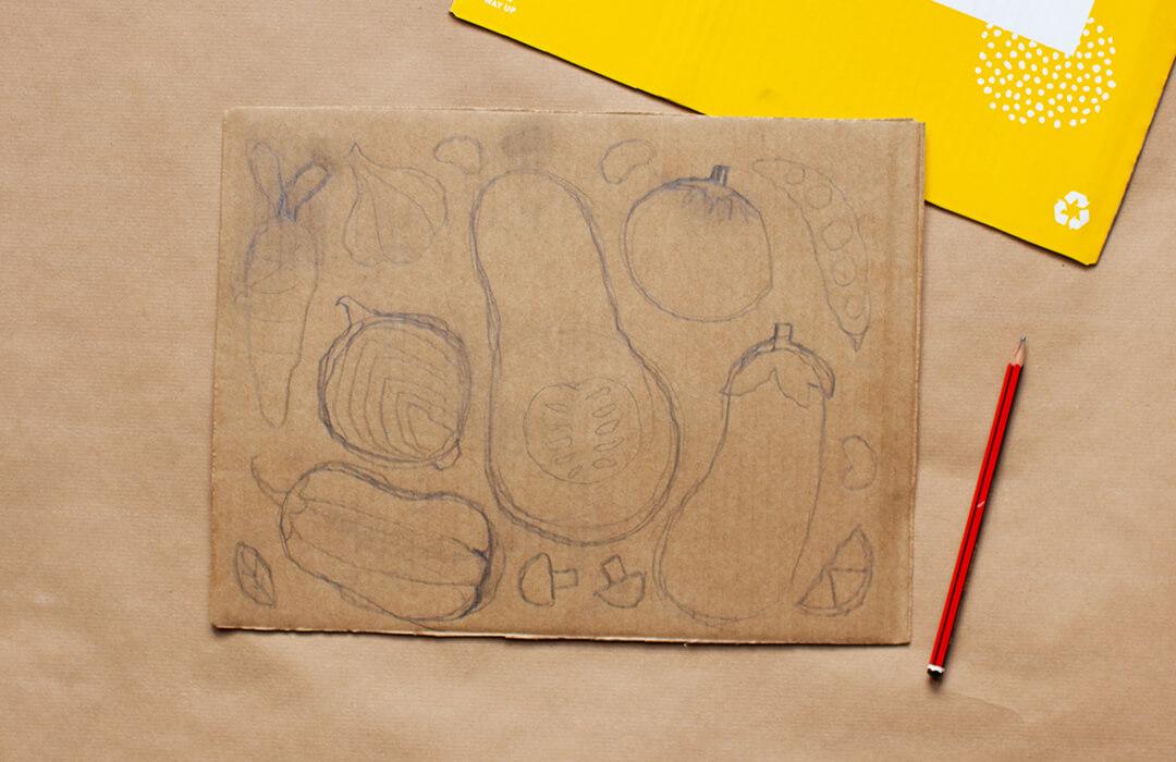 drawing on box