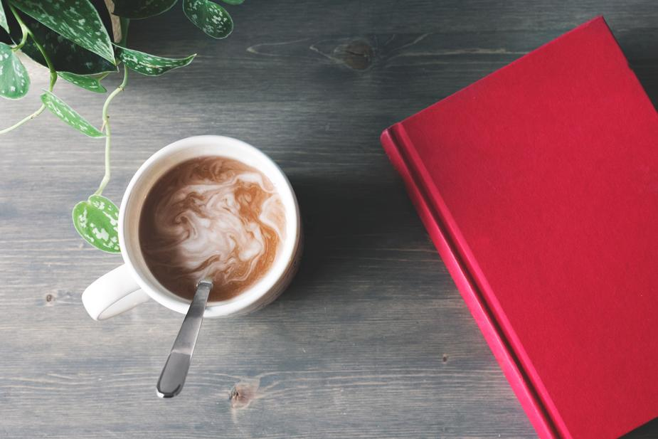 cookbook and coffee