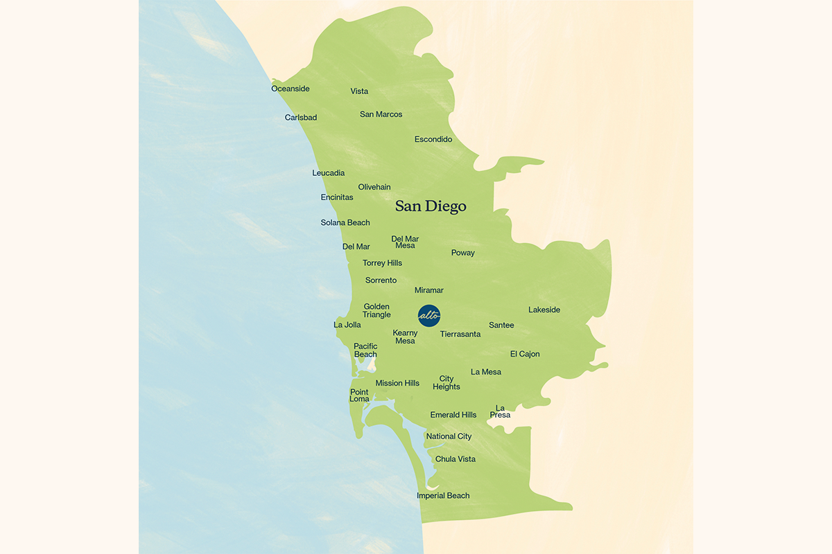 San Diego courier delivery zone