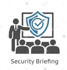 Une équipe en security briefing