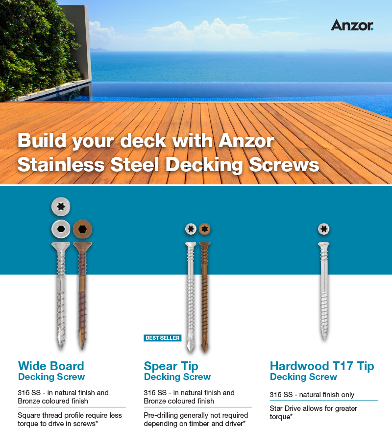 Anzor Stainless Steel Decking Screw Flyer