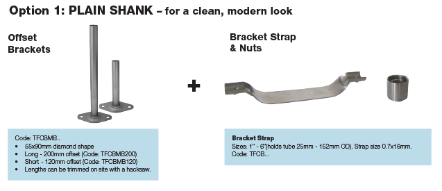 Anzor Stainless Downpipe Wall Clamp Option 1