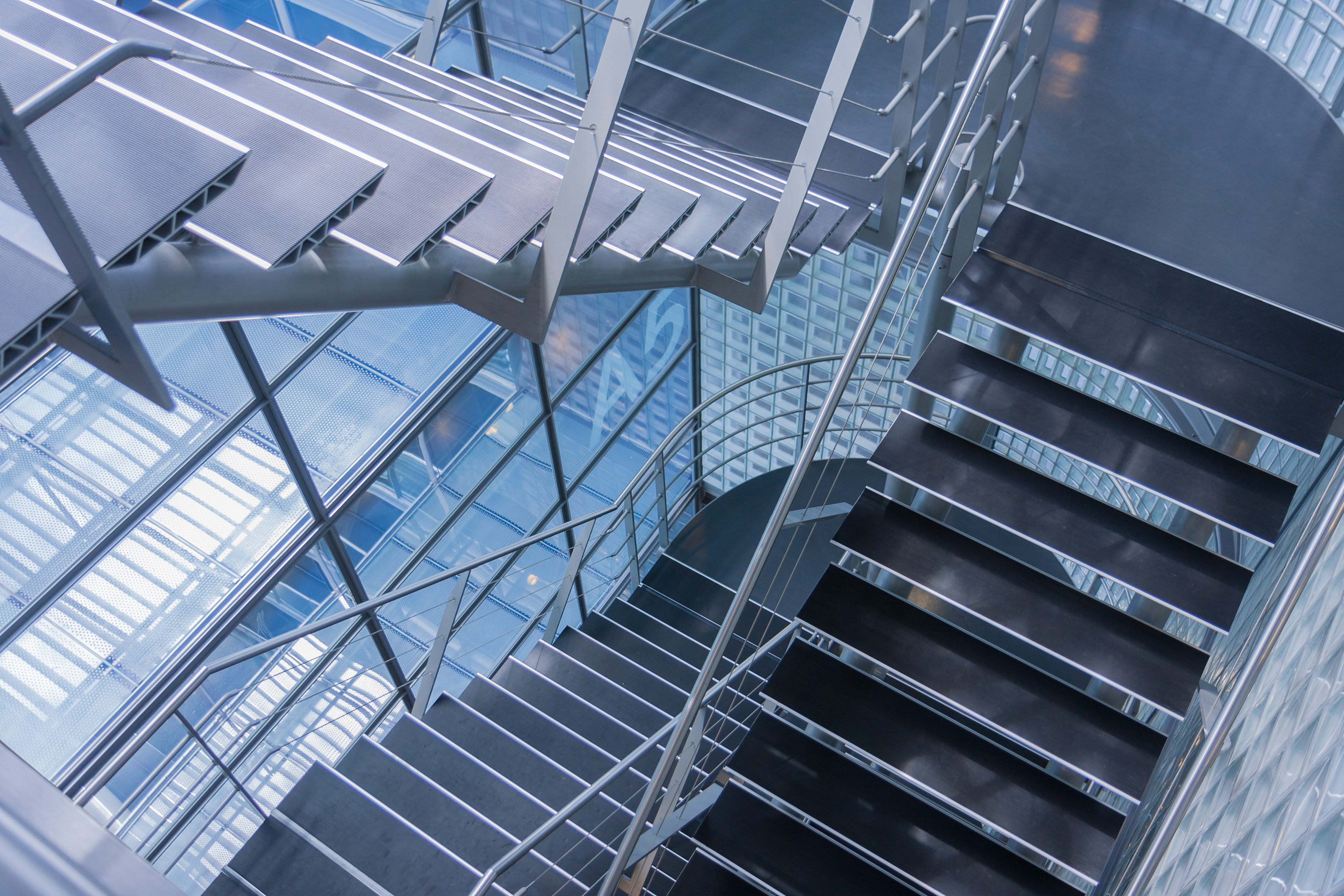 Stainless Steel Stairwell
