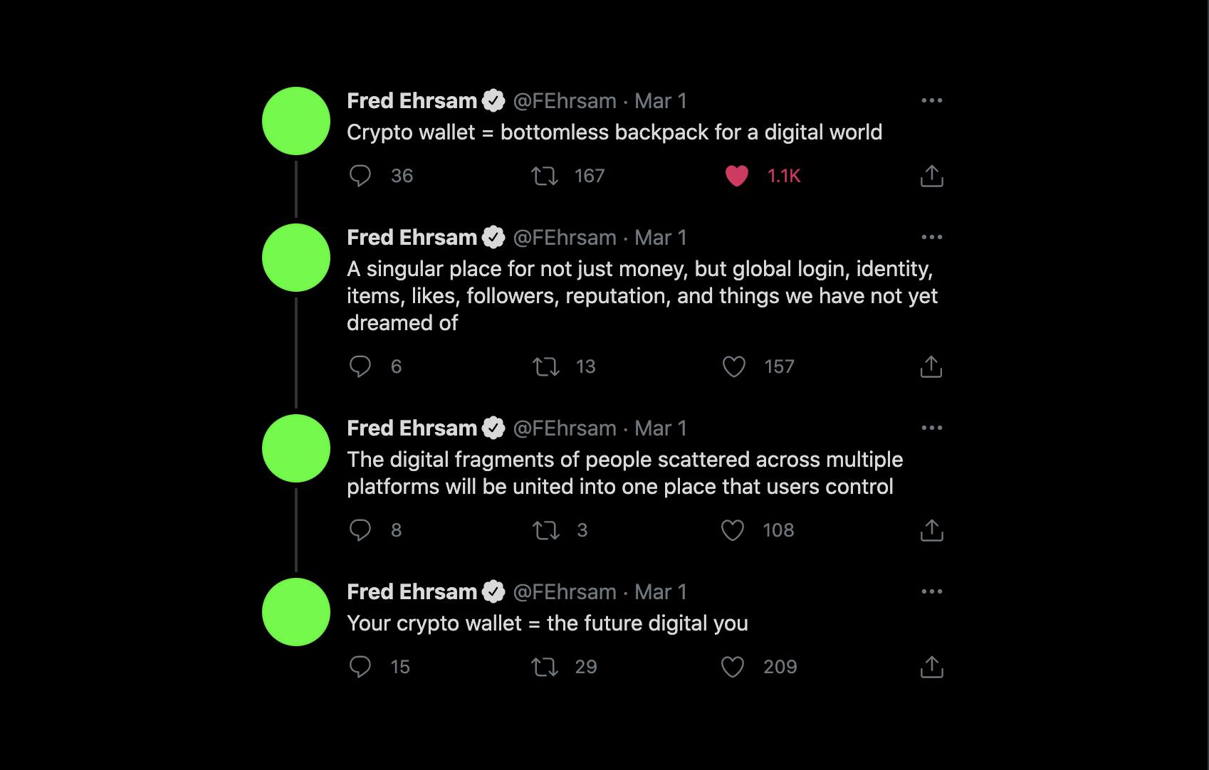Fred Ehrsam tweets: