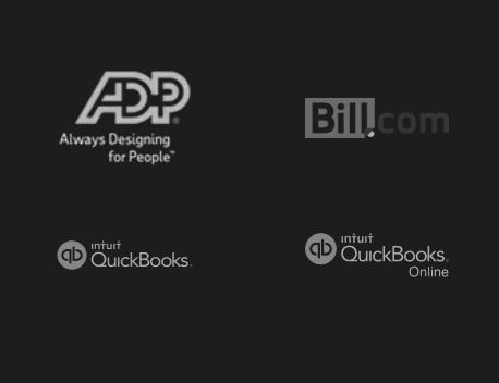ADP, Bill.com, QuickBooks