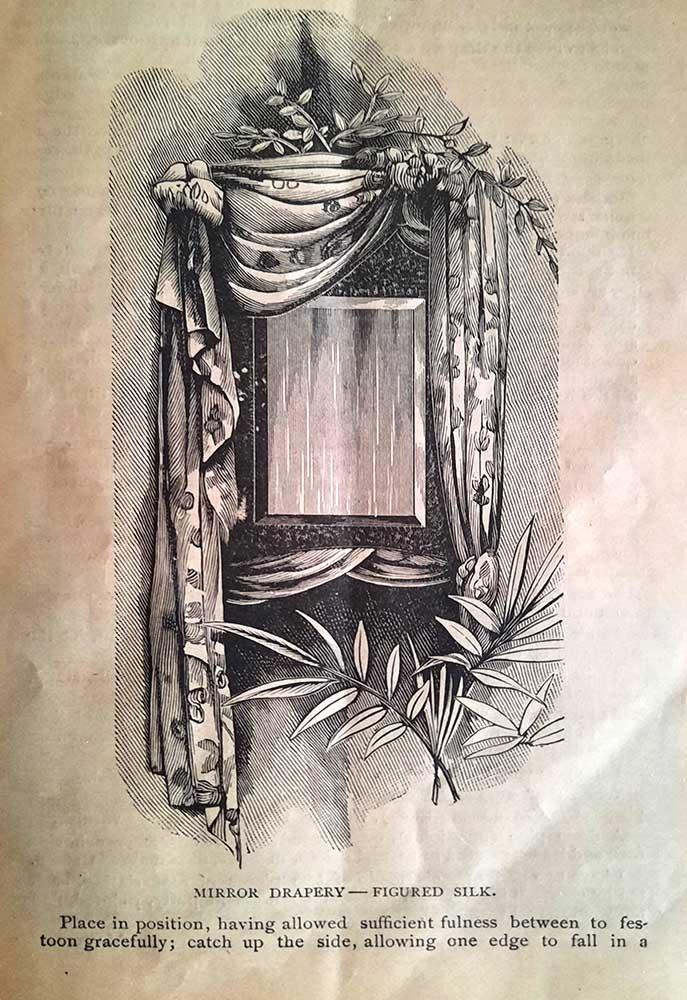 1913 illustration of draperies