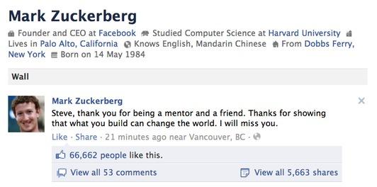 Image result for mark zuckerberg and steve jobs relationship
