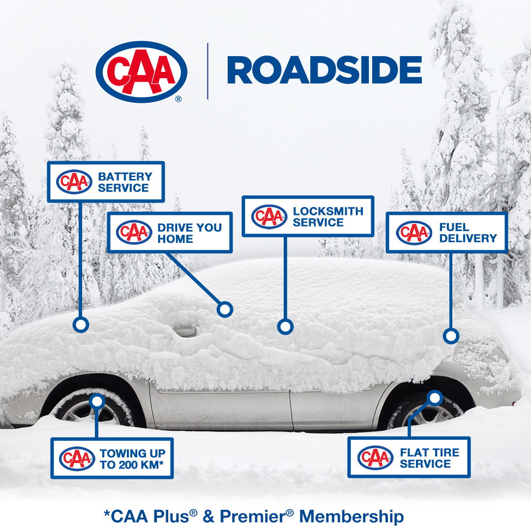CAA Roadside - Battery service, drive you home, locksmith service, fuel delivery, towing up to 200km*, flat tire service