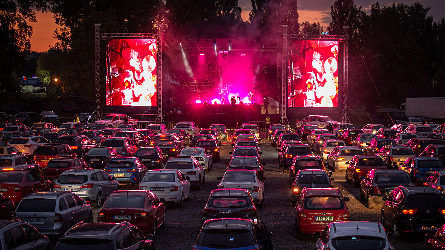 Drive-in entertainment at Grey Eagle Resort