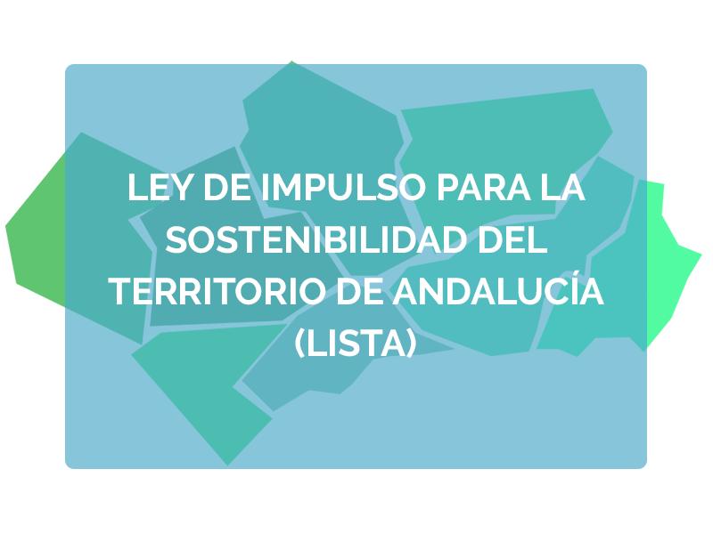 Ley de impulso para la sostenibilidad del territorio de Andalucía (LISTA)