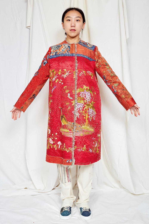 By Walid Womenswear Tanita Coat in Red AW20