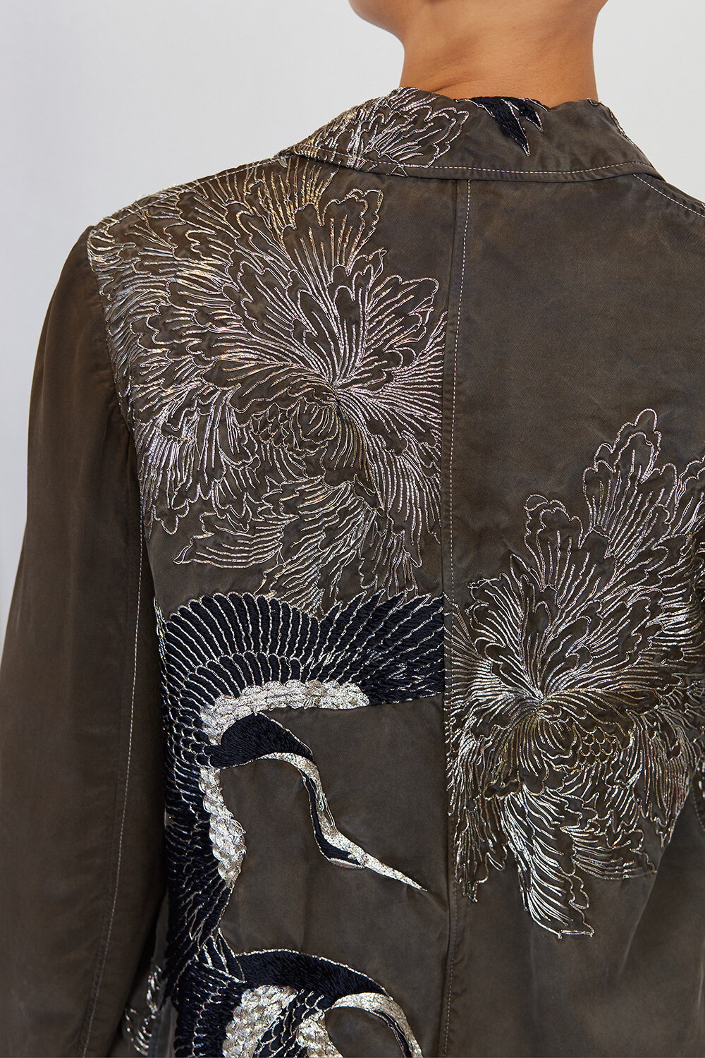 By Walid Womenswear Embroidered 19th Century Coat SS20