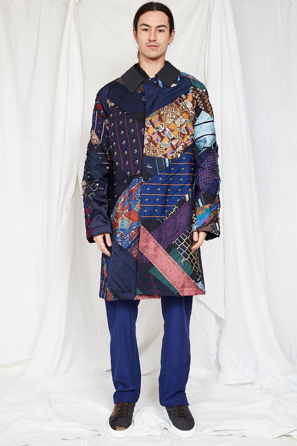 By Walid Campaign Rufuss Patch Work Coat AW20