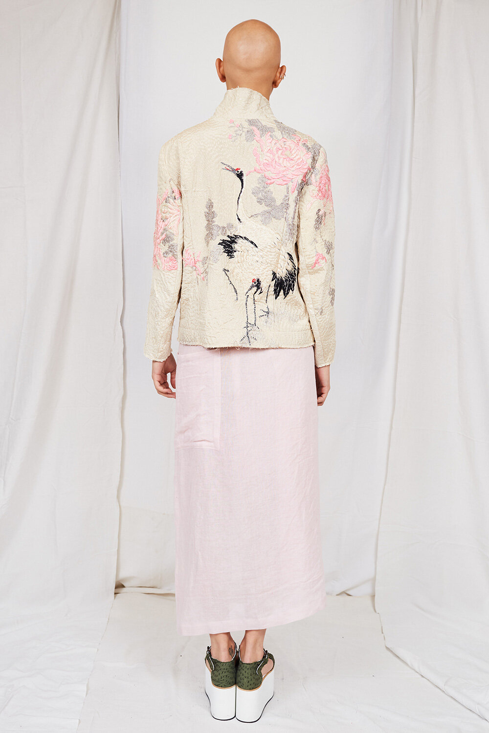 By Walid Womenswear Bird Embroidered Jacket SS20